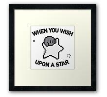 Kirby makes a wish Framed Print