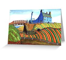 177 - SEATON SLUICE - 01 - DAVE EDWARDS - WATERCOLOUR - 2007 Greeting Card