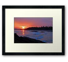 Vancouver Island Sunset - ii Framed Print