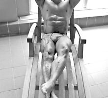Vancouver - big roger on deck chair by jackson photografix