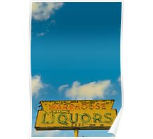Austin, Texas - warehouse liquors Poster