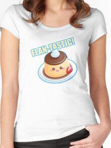 Cute Pun: Flan-tastic Flan Women's Fitted Scoop T-Shirt