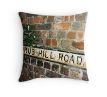 Shrub Hill Road - complete with shrub Throw Pillow