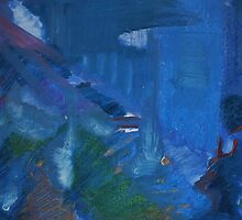 City Landscape : City Nuances in Blue by Lozzar Flowers & Art