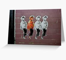 Four Boys Wheat paste NYC series  Greeting Card