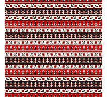 Traditional Romanian embroidery pixel Photographic Print