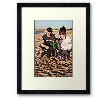 33. Alana & her King Charles/ Mini Foxy, Charlie Framed Print