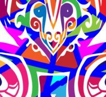 Colored monogram. Sticker