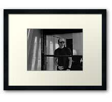 Behind the Screen Door Framed Print