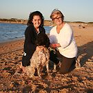 35. Lisa & Nicola with Labradoodle Sid by Cathie Brooker