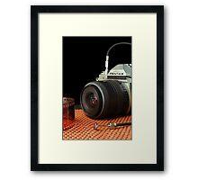 Photographer on Duty Framed Print