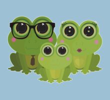 Frog Family One Piece - Short Sleeve