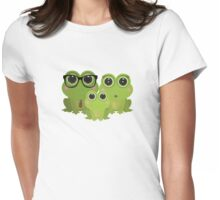 Frog Family Womens Fitted T-Shirt