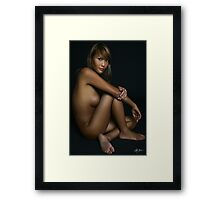 Comfortable In Her Own Skin Framed Print