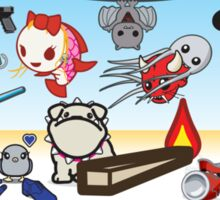 mikoto's 2nd birthday banner  Sticker