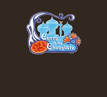 """""""Curry Is My Chocolate"""" Vintage Design [lower t-shirt placement] Unisex T-Shirt"""