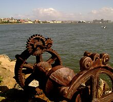 Rusty Old Winch by reflector