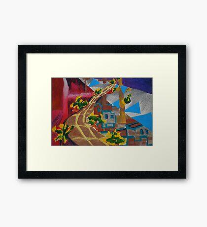 City landscapes : Outward bound Framed Print