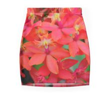 Orange Orchid Cluster Mini Skirt