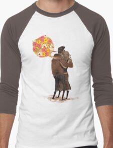 Speak Happy Thoughts. Men's Baseball ¾ T-Shirt