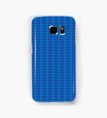 Blue knitted pattern.  Samsung Galaxy Case/Skin