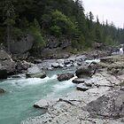 River in Glacier National Park, Montana, USA by 'ö-Dzin Tridral