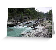 River in Glacier National Park, Montana, USA Greeting Card