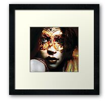 """Mask series""Are you looking Framed Print"