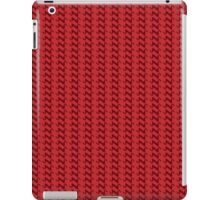 Red knitted pattern.  iPad Case/Skin