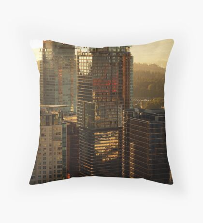 Sunset over Downtown, Vancouver, BC, Canada Throw Pillow