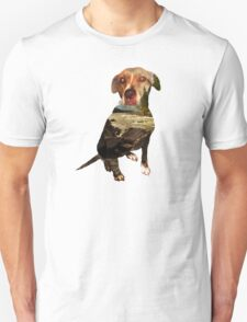 double exposure dog T-Shirt