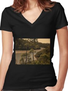 Oatley River  Women's Fitted V-Neck T-Shirt