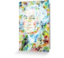 GEORGE WASHINGTON - watercolor portrait Greeting Card