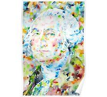 GEORGE WASHINGTON - watercolor portrait Poster