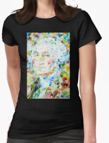 GEORGE WASHINGTON - watercolor portrait Womens Fitted T-Shirt