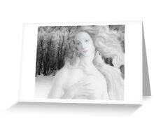 Winter Doll Greeting Card