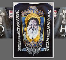 The Druids Head Leather Painting by quigonjim