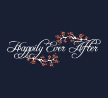 White White Happily Ever After Tropical Hibiscus Flower Fusion Swirls Kids Tee