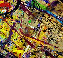 #11 - Paint in Abstract on Work Table  by Larry3