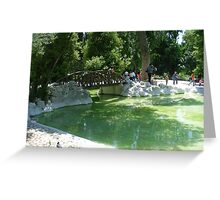 in the greek gardens Greeting Card