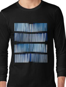 Blue Ripple Abstract Long Sleeve T-Shirt