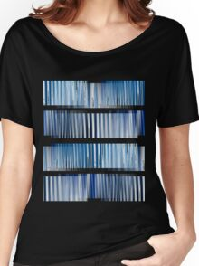 Blue Ripple Abstract Women's Relaxed Fit T-Shirt