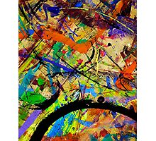 08 Paint in Abstract on Work Table  Photographic Print