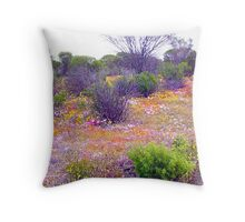 Spring colours in the wheatbelt Throw Pillow