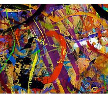 06 Paint in Abstract on Work Table Photographic Print