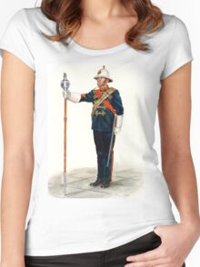 Royal Marines Drum Major Women's Fitted Scoop T-Shirt