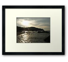 Penang beach at sunset Framed Print