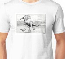 Parasaur wearing Pedspeeds Unisex T-Shirt
