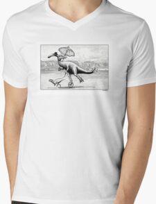 Parasaur wearing Pedspeeds Mens V-Neck T-Shirt