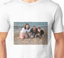 16. Maddy, Linda & Lachlan with their Bitza rescue dog Unisex T-Shirt